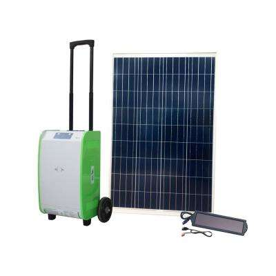 1,800-Watt Indoor/Outdoor Portable Off-Grid Solar Generator Kit with 100-Watt Solar Panel and Luggage Style Carrier