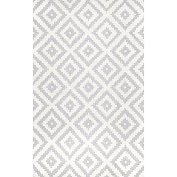 Kellee Contemporary Light Gray 5 ft. x 8 ft.  Area Rug