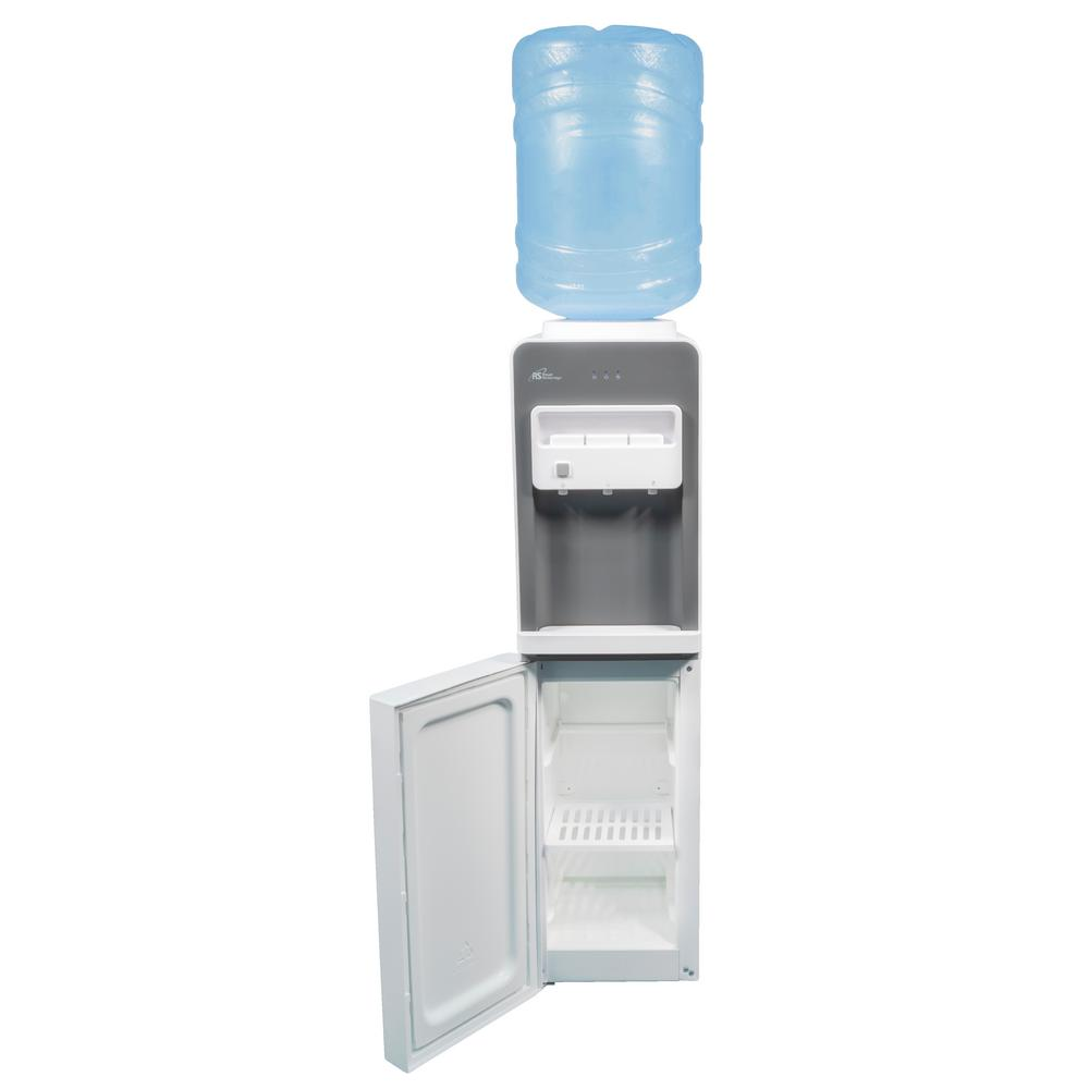 Hot and Cold Free-Standing Top Load Water Dispenser in White