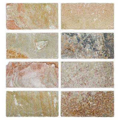 Rose 3 in. x 6 in. Slate Floor and Wall Tile (1 sq. ft./ pack)