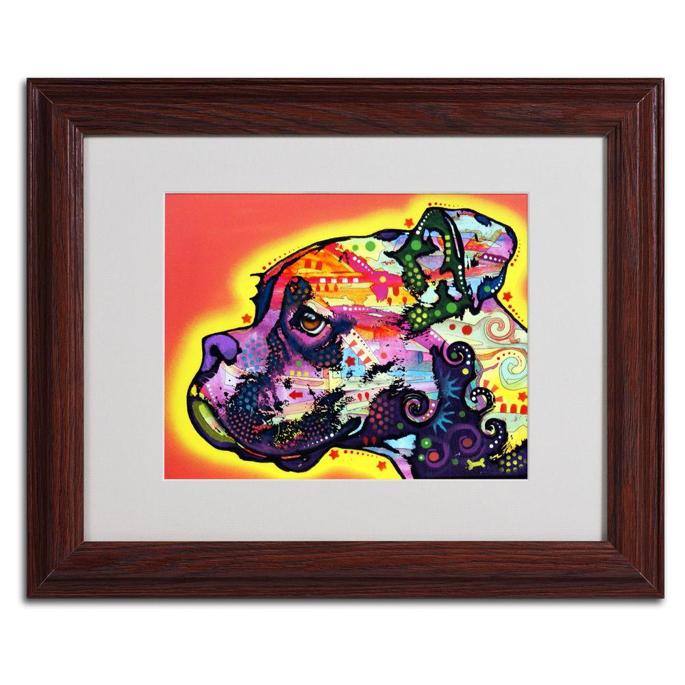 Trademark Fine Art 11 in. x 14 in. Profile Boxer Matted Brown Framed Wall Art