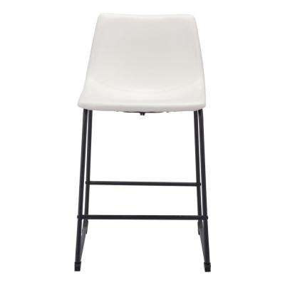 Smart 24 in. Distressed White Counter Chair
