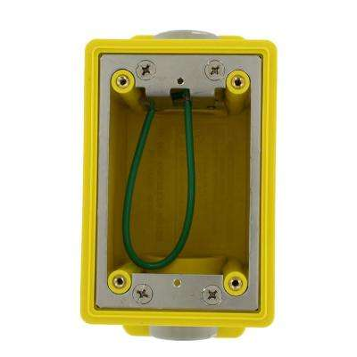 Single Gang Industrial Grade FD Box with 26.0 cu. in. Capacity, Yellow