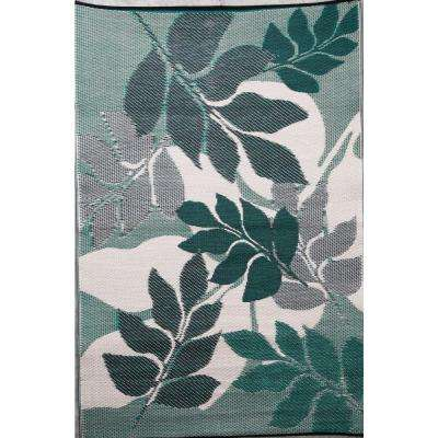 Natura Green/Grey 4 ft. x 6 ft. Outdoor Reversible Area Rug
