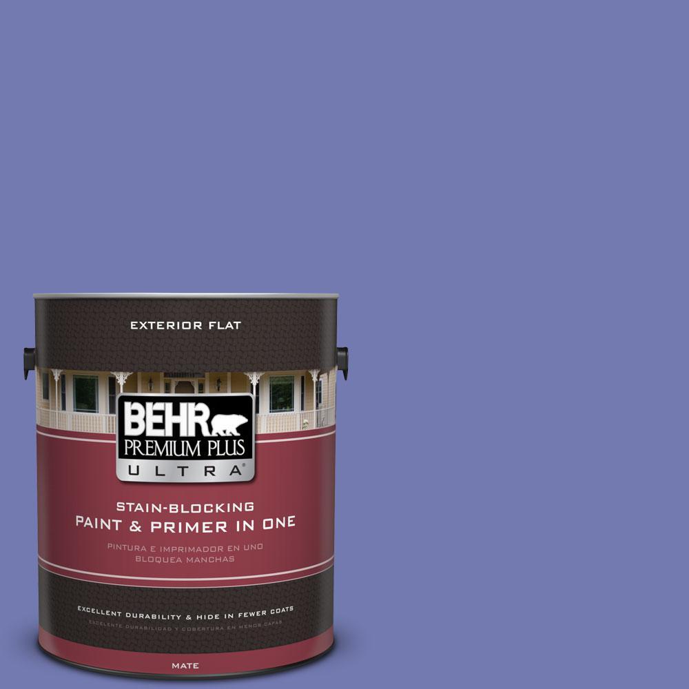 BEHR Premium Plus Ultra 1-gal. #620B-6 Magic Moment Flat Exterior Paint