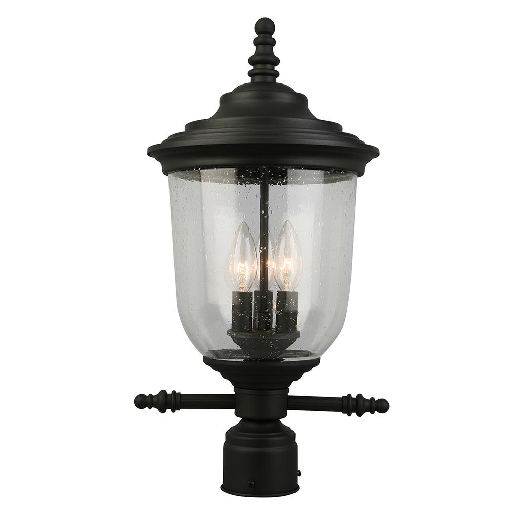 Home Decorators Collection Brimfield 3-Light Outdoor Aged Iron Post Light-Y37031A-151 - The Home ...
