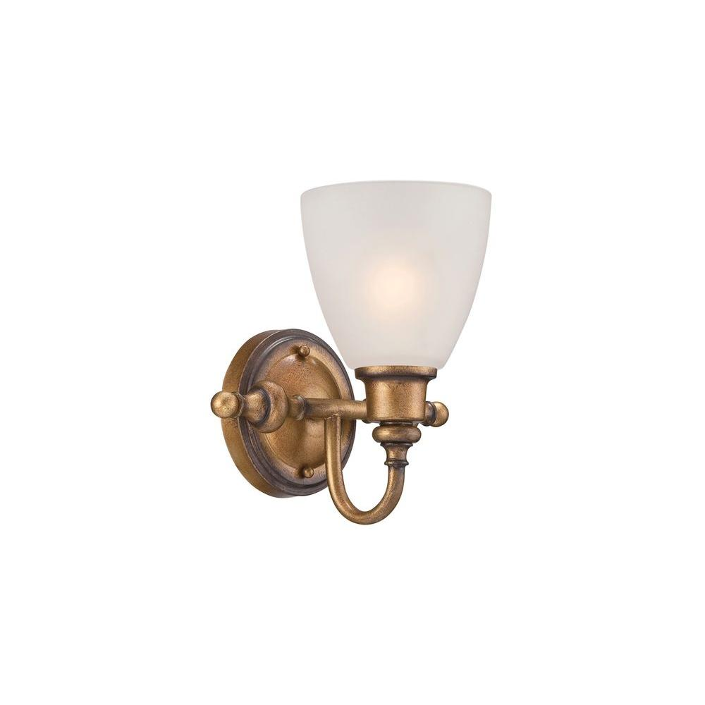 Isla 1-Light Aged Brass Wall Sconce