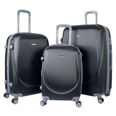 BARNET 2.0 3-Piece Black Hardside Expandable Vertical Luggage Set with Spinner Wheels
