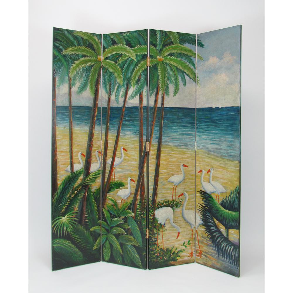 Multi-Colored Beach Screen