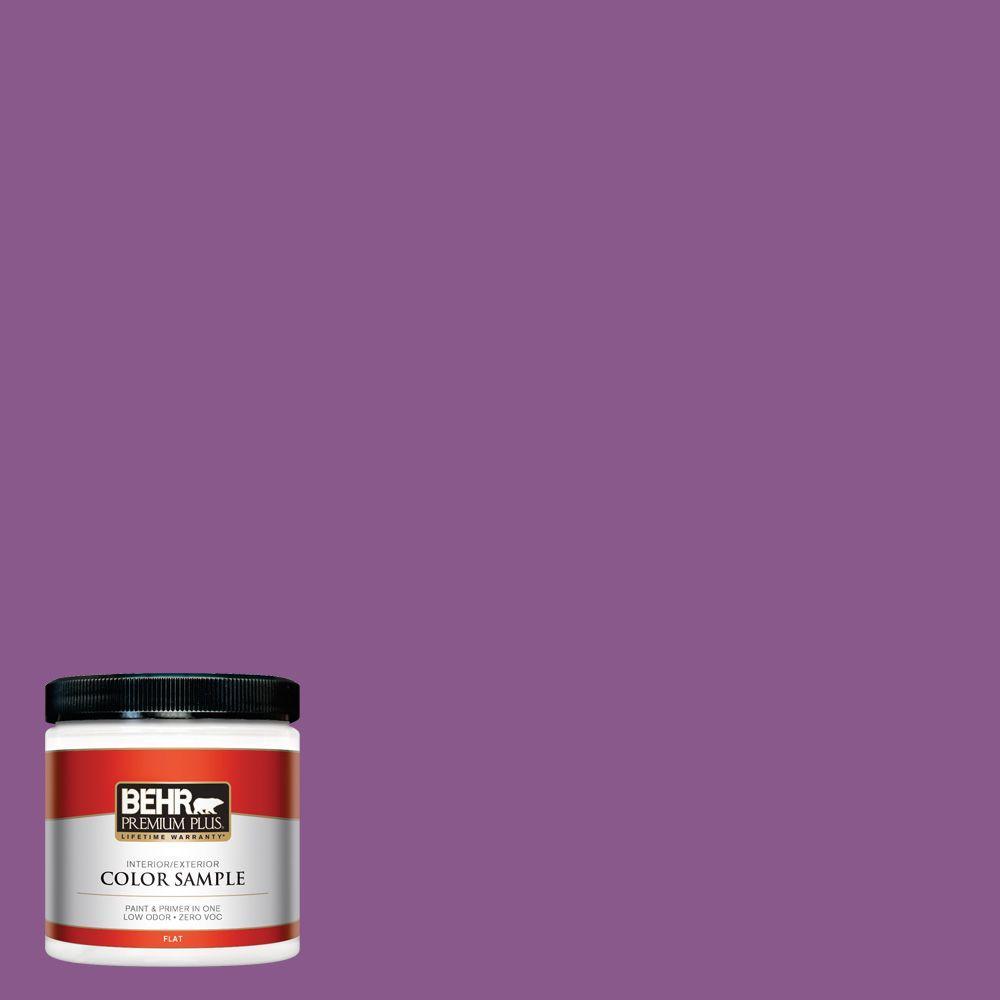 BEHR Premium Plus 8 oz. #670B-7 Candy Violet Interior/Exterior Paint Sample