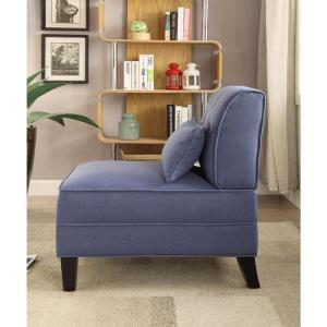 ACME Furniture Susanna Blue Accent Chair with Pillow 59613 ...
