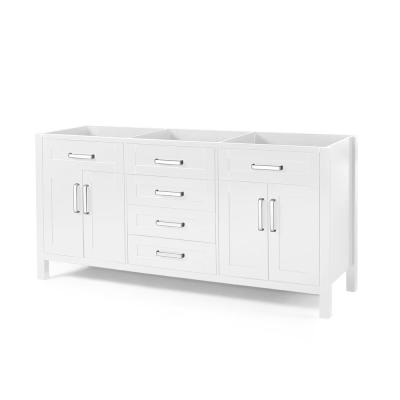 Greysen 72 in. W x 22 in. D Bath Vanity Cabinet Only in White