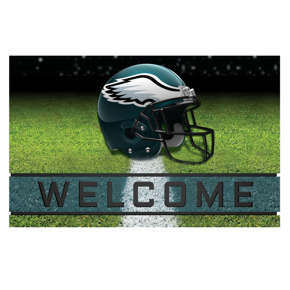 9d7db3c4787 FANMATS NFL - Philadelphia Eagles 18 in. x 30 in. Rubber Door Mat ...