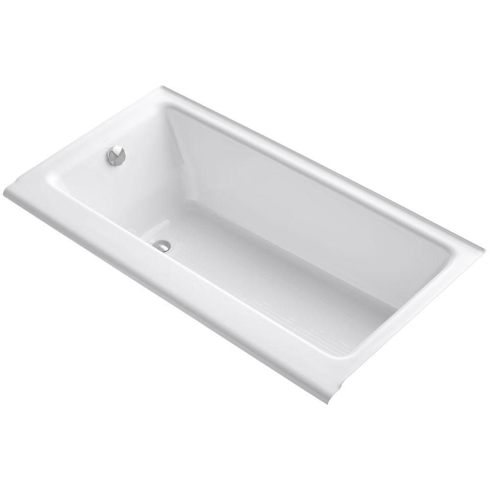 Highbridge 5 ft. Left-Hand Drain Soaking Tub in White