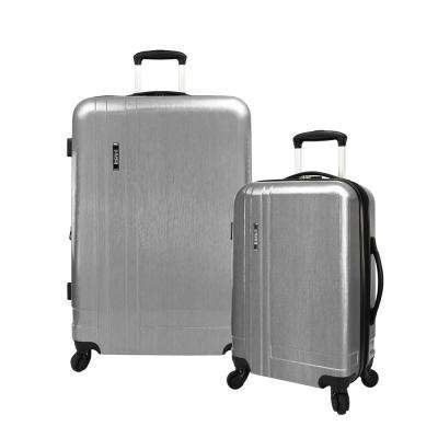 2-Piece Silver Lightweight Expandable Spinner Set
