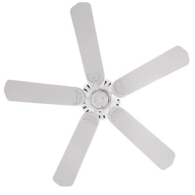 Bridgeport 52 in. Indoor/Outdoor White Damp Rated Ceiling Fan Bundled with Handheld Remote Control