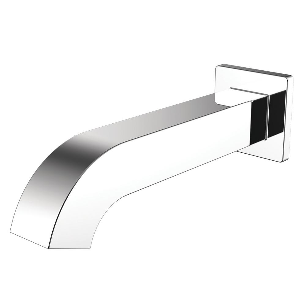 Square Wall Mount Sensor Faucet in Polished Chrome