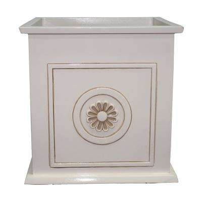 Colony 16 in. Dia Ivory Resin Composite Square Planter