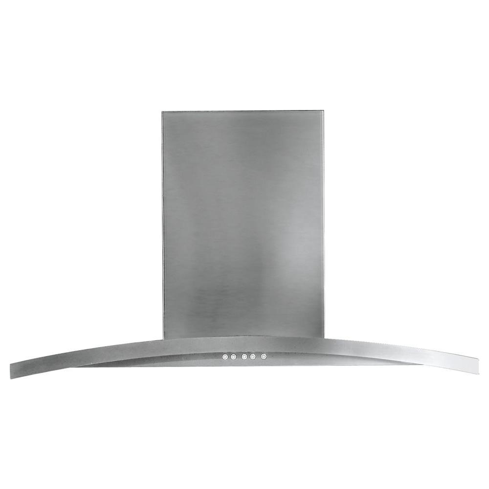 36 in. Designer Range Hood in Stainless Steel