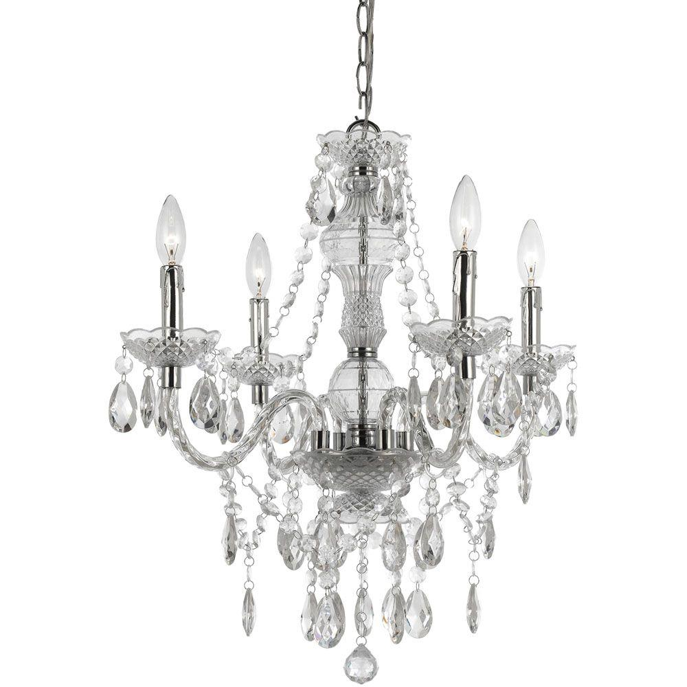Af Lighting Naples 4 Light Clear Mini Chandelier