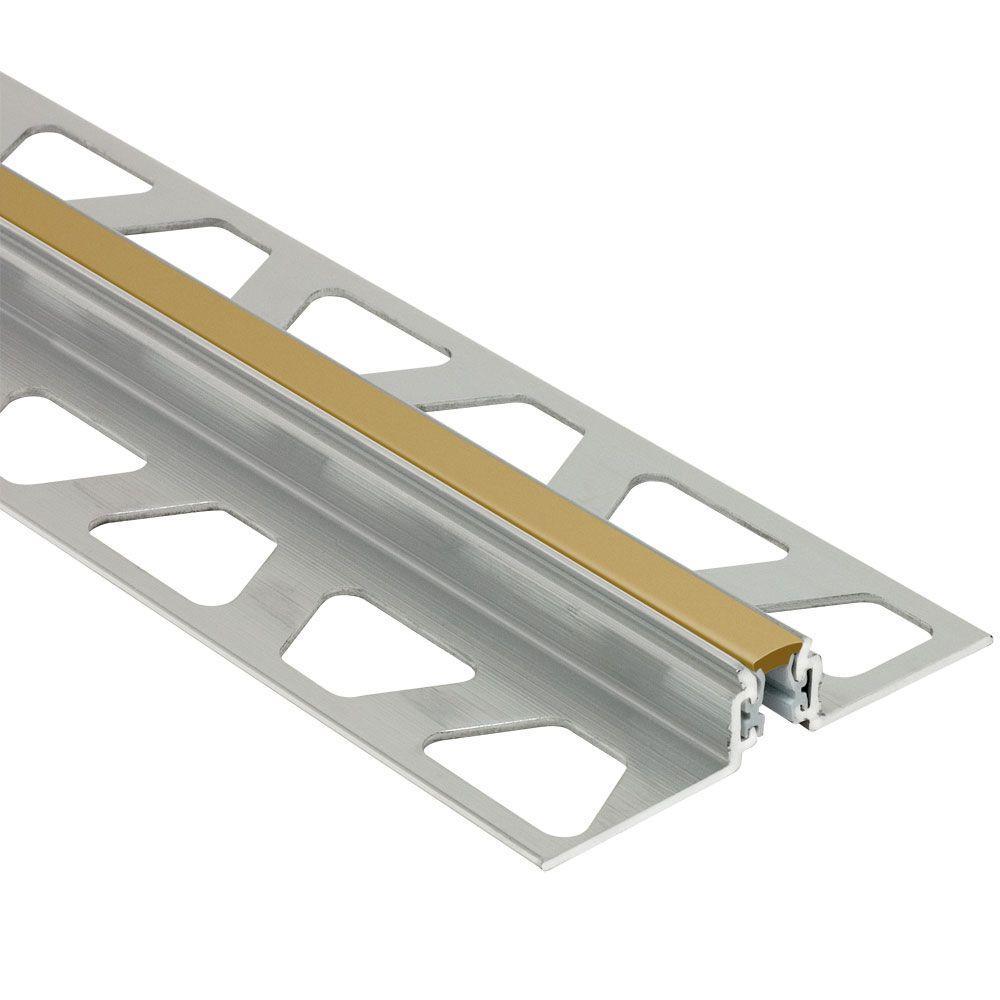 Dilex-AKWS Aluminum with Light Beige Insert 17/32 in. x 8 ft.