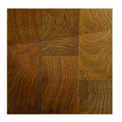 Walnut Block 8 mm Thick x 11.4 in. Wide x 46.5 in. Length Click Lock Laminate Flooring (18.45 sq. ft. / case)