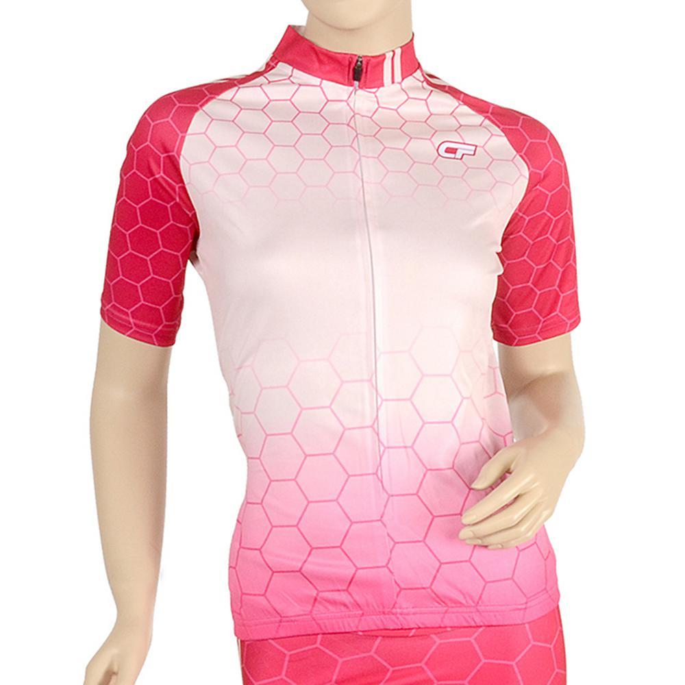 Triumph Women's Medium Pink Cycling Jersey