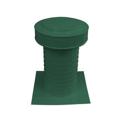 7 in. Dia Keepa Vent an Aluminum Static Roof Vent for Flat Roofs in Green