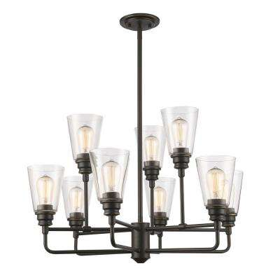 Nina 9-Light Olde Bronze Chandelier