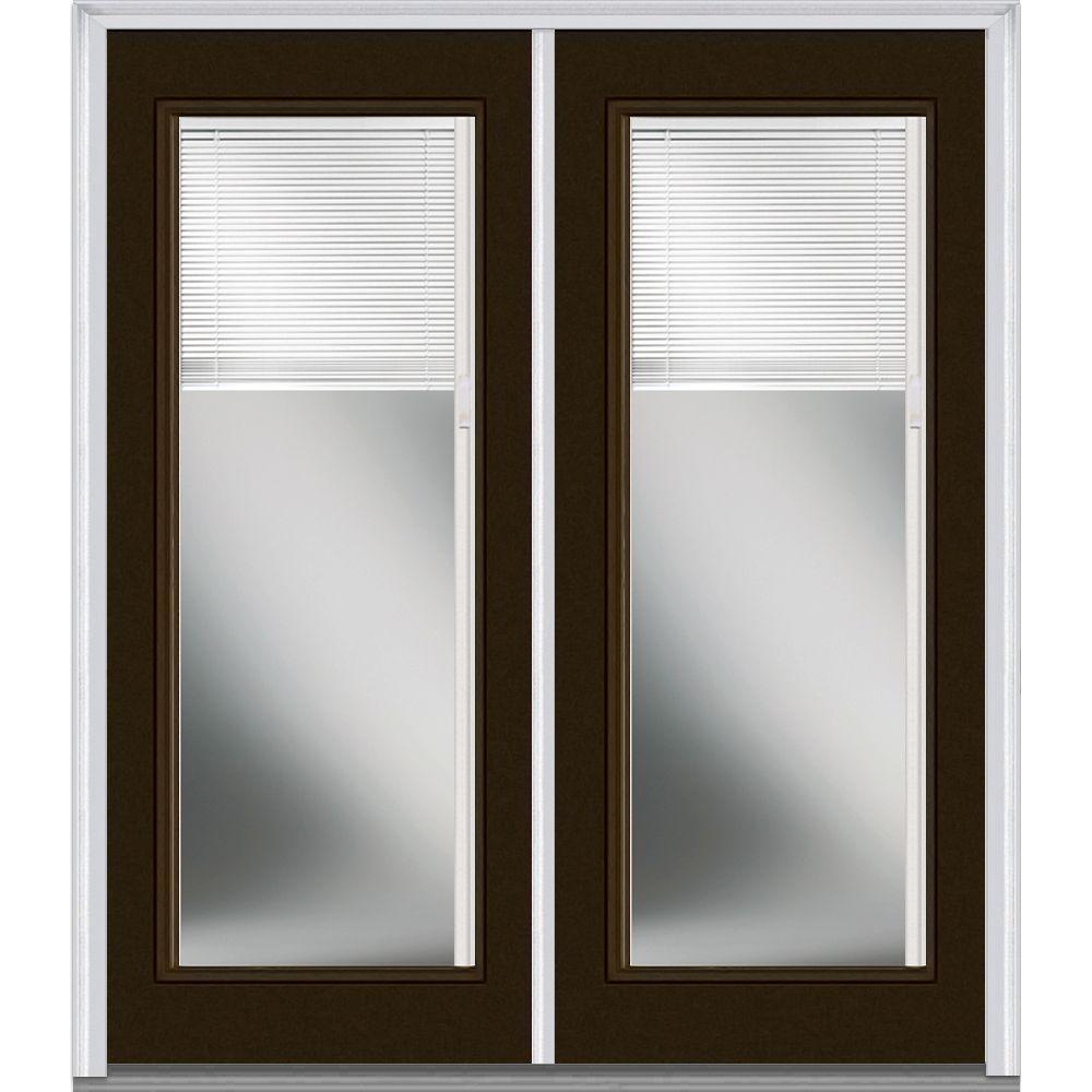 60 x 80 - Brown - Double Door - Fiberglass Doors - Front Doors ...
