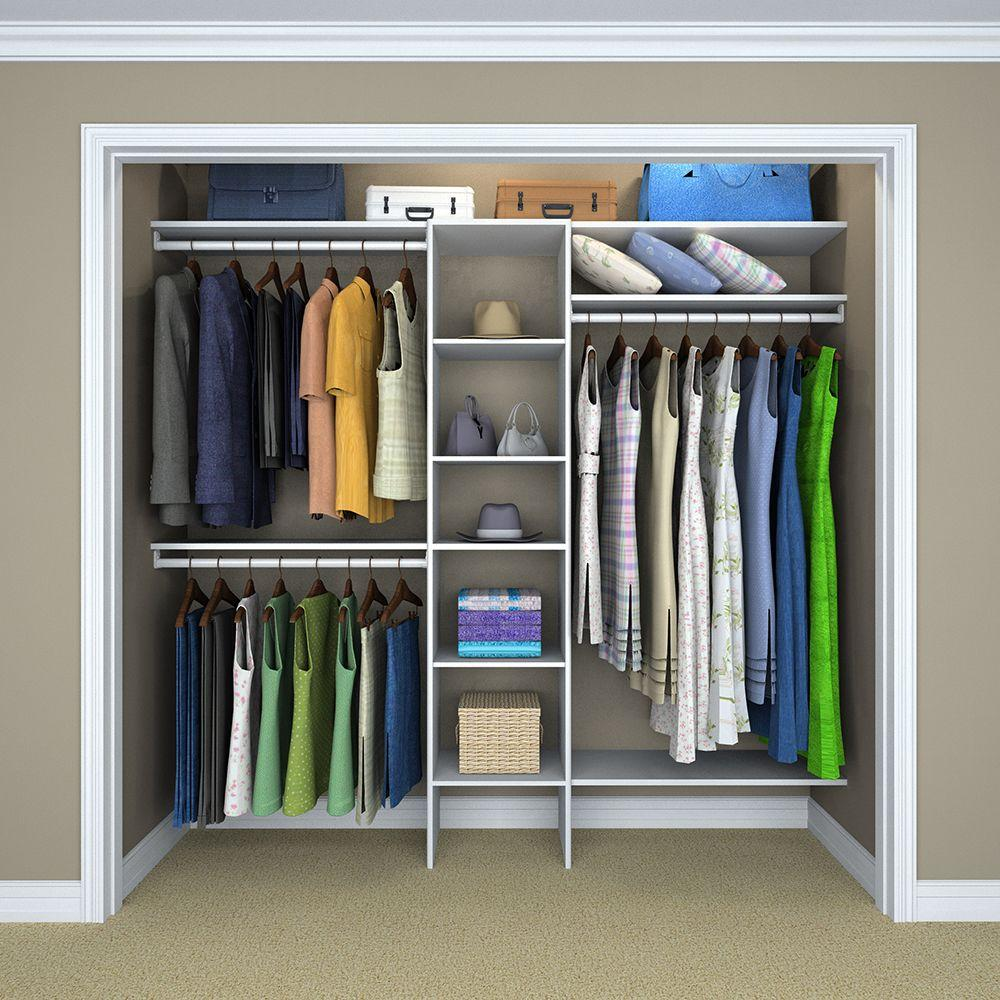 ClosetMaid Selectives 11 in. H x 11 in. W x 11.11 in. D Basic Closet System  Kit in White (11-Piece)