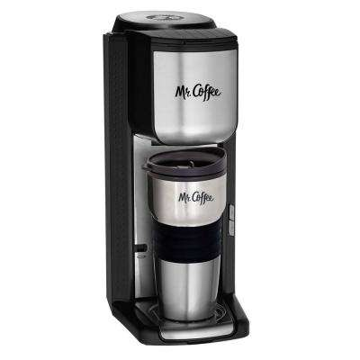 Single Serve Coffeemaker with Built-in Grinder and Travel Mug Included