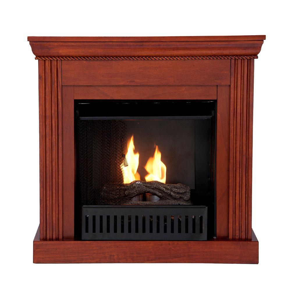 Southern Enterprises Wexford Petite 30 in. Convertible Gel Fuel Fireplace in Mahogany-DISCONTINUED