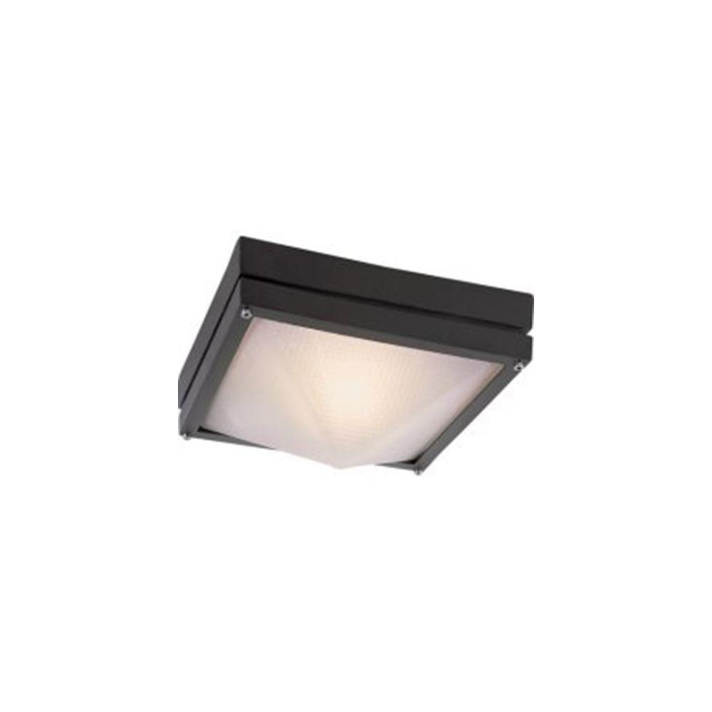 Stewart 1-Light Black Incandescent Outdoor Flushmount