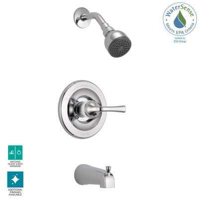 Foundations Single-Handle 1-Spray Tub and Shower Faucet in Chrome (Valve Included)