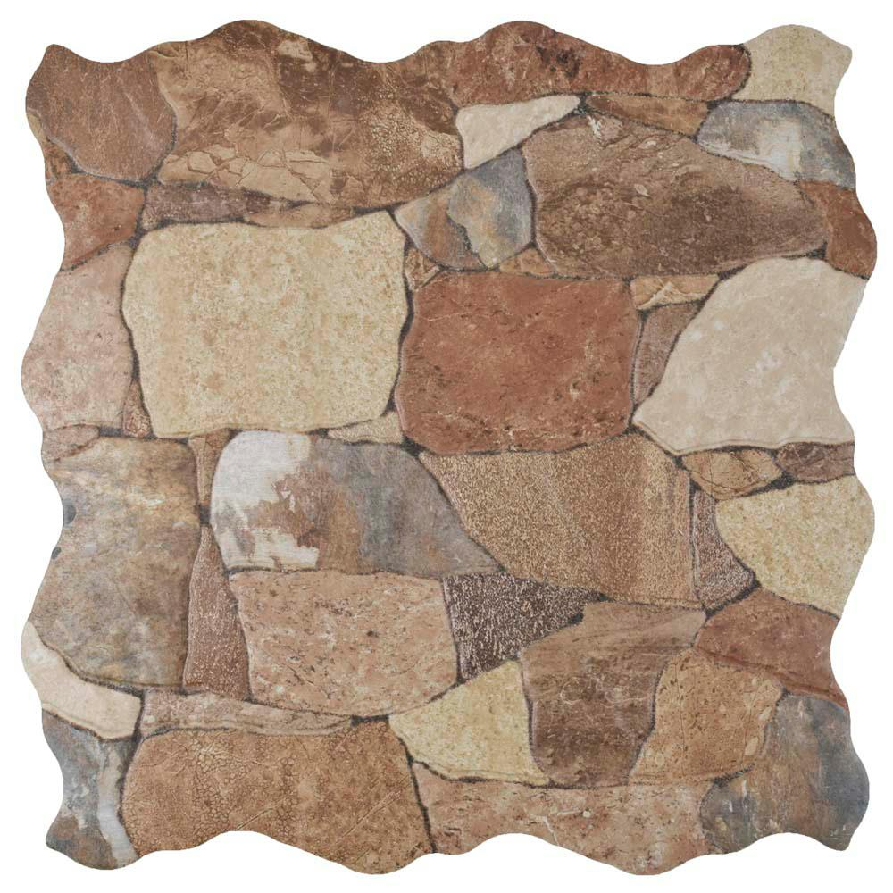Merola Tile Attica Caldera In X In Ceramic Floor And - Ceramic tile that looks like rocks