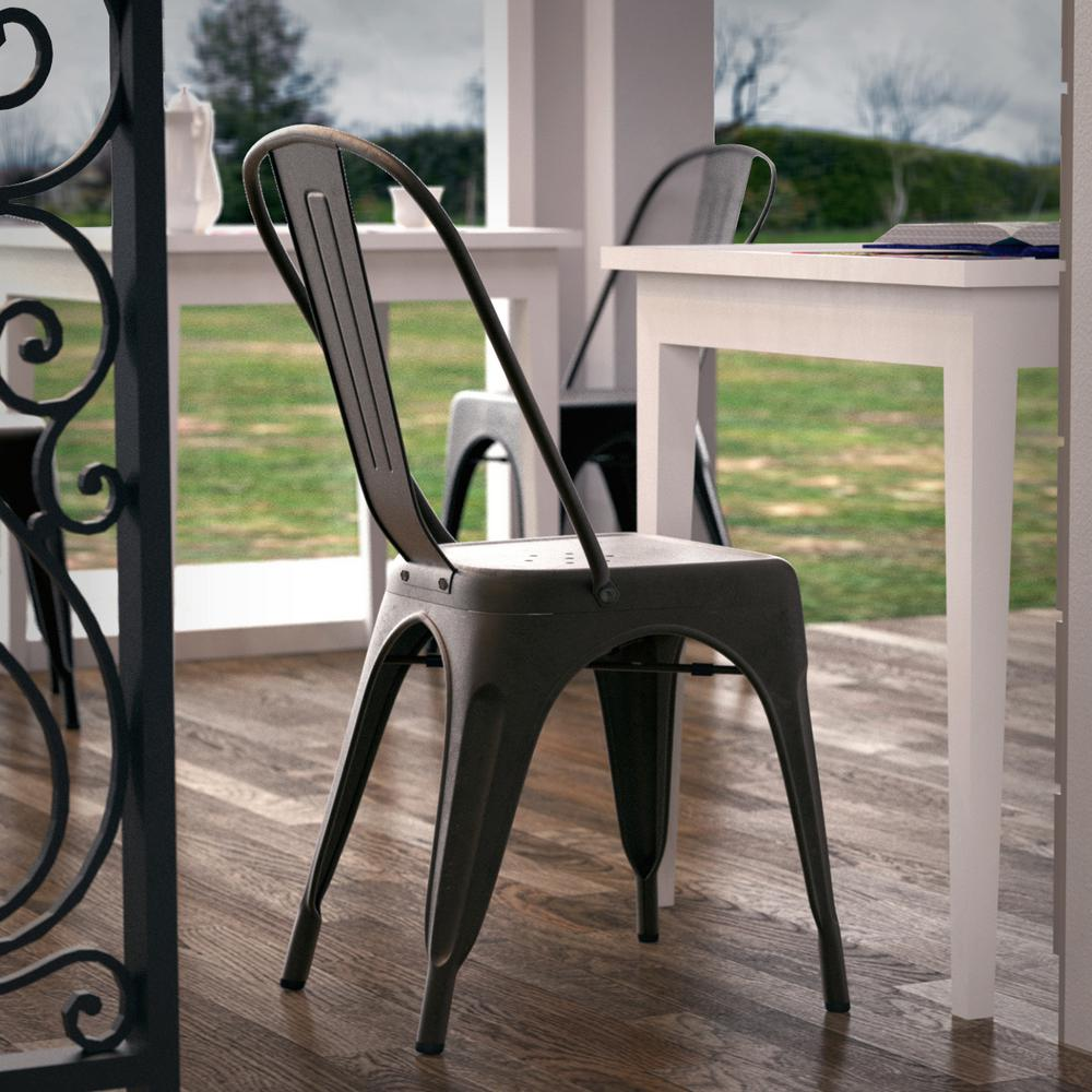 Poly And Bark Trattoria Bronze Side Chair (Set Of 4)