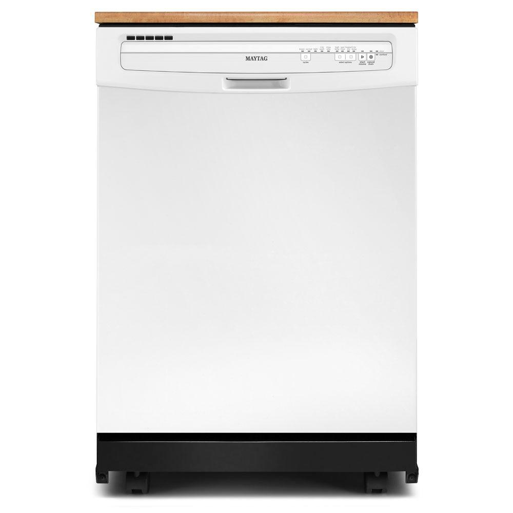 Maytag JetClean Plus Portable Dishwasher in White with 10 Place Settings Capacity-DISCONTINUED