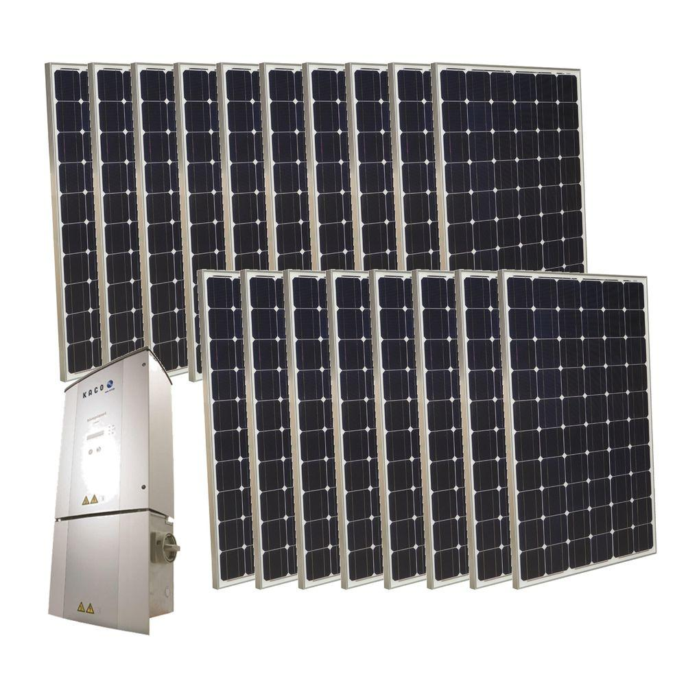 Grape Solar 4,500-Watt Monocrystalline PV Grid-Tied Solar Power Kit-DISCONTINUED