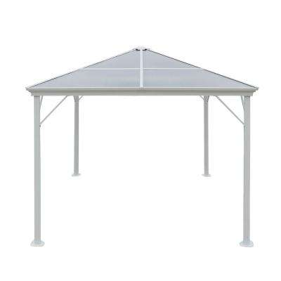 9.84 ft. x 9.84 ft. White Aluminum-Framed Canopy Gazebo
