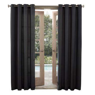 semiopaque outdoors birmingham woven solid color window curtain