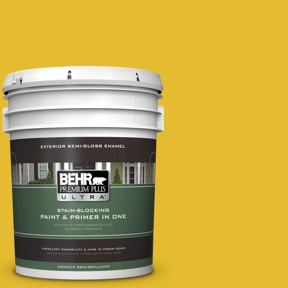BEHR Premium Plus Ultra 5-gal. #T11-11 Lizard Breath Semi-Gloss Enamel Exterior Paint