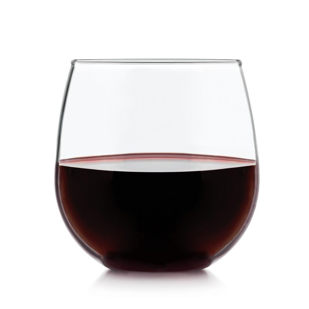 libbey stemless 8 piece red wine glass set 222 the home depot. Black Bedroom Furniture Sets. Home Design Ideas