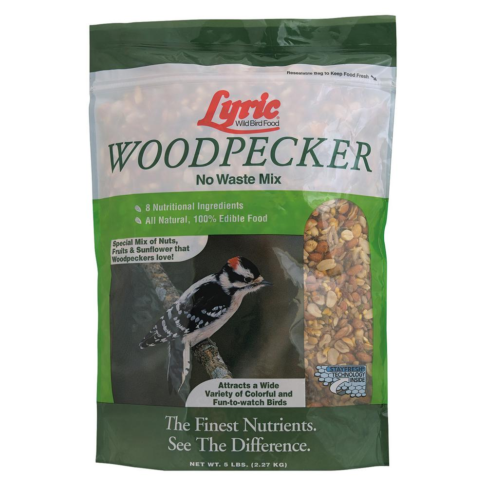 Lyric 5 lbs. Wild Bird Seed/Nut/Fruit No-Waste Mix for Woodpeckers