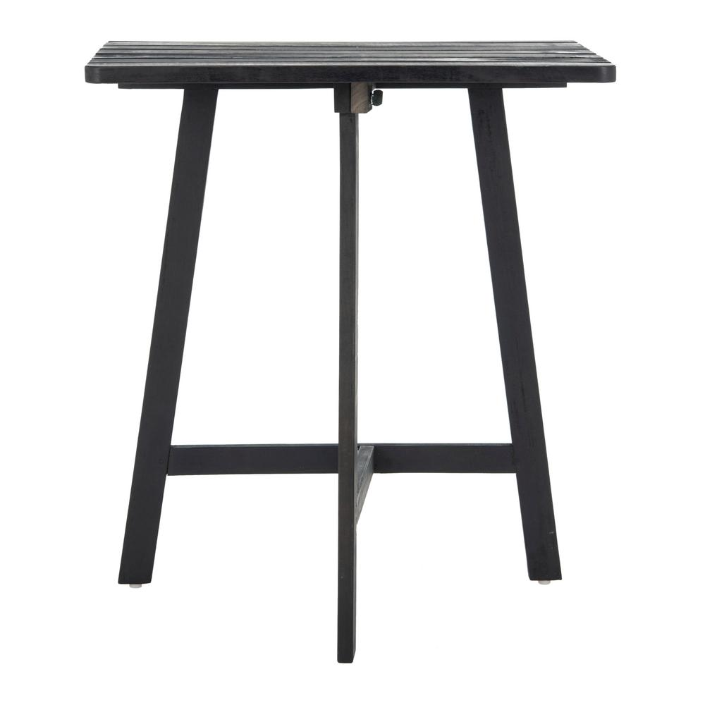 Safavieh Benton Dark Slate Grey Wood Outdoor Side Table