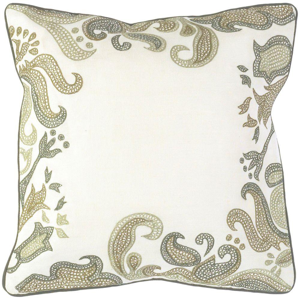 Artistic Weavers Border 18 in. x 18 in. Decorative Down Pillow