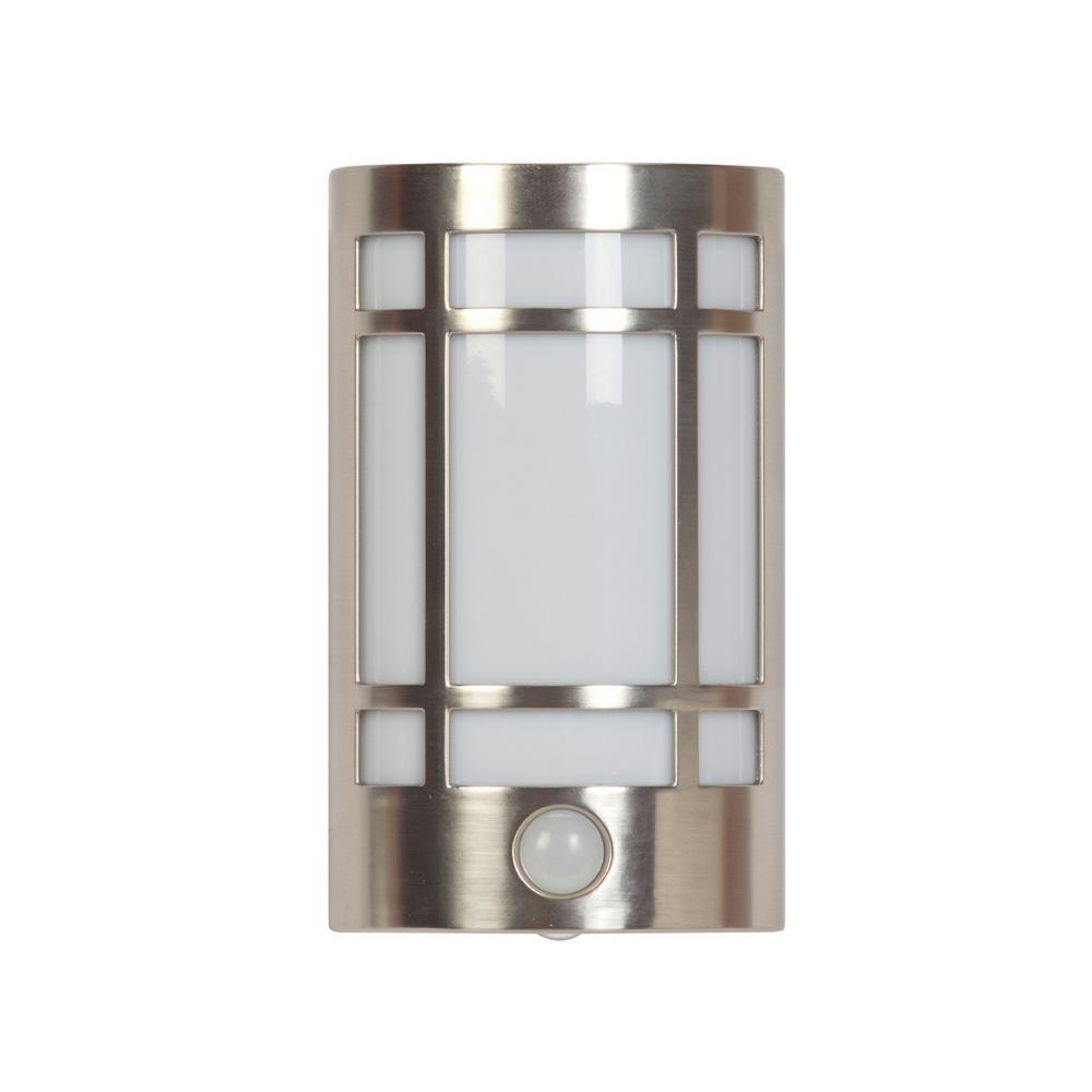 LED Motion Activated Decorative Night Light – Brushed Nickel