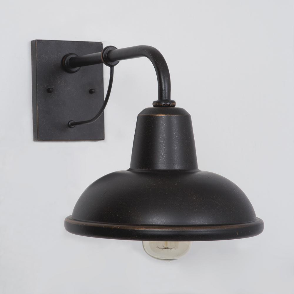 Yosemite Home Decor Brawley Collection 1 Light Oil Rubbed Bronze Outdoor Wall Mount