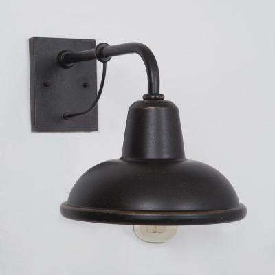 Brawley Collection 1-Light Oil-Rubbed Bronze Outdoor Wall-Mount Lamp