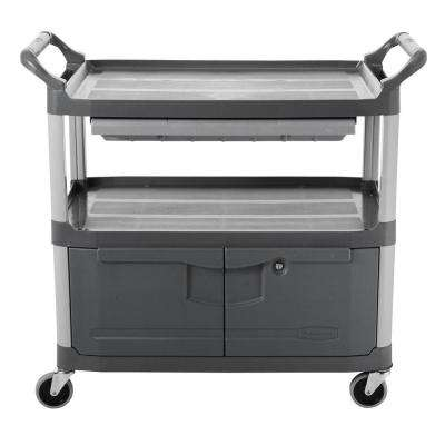 Xtra Open-Sided Gray Instrument Cart
